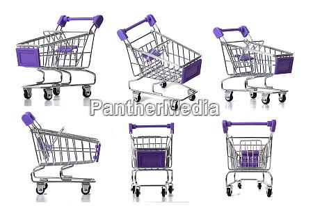 miniature shopping carts