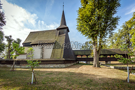 wooden church koci in the middle