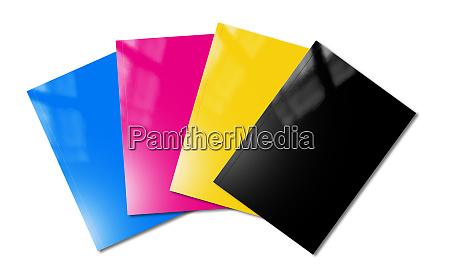 cmyk booklets set mockup on white