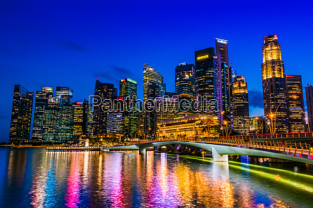 singapore downtown business architecture seen from