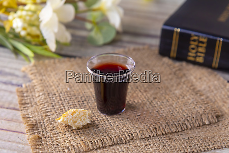 taking communion and lord supper concept