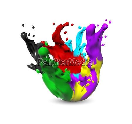 paint splash isolated