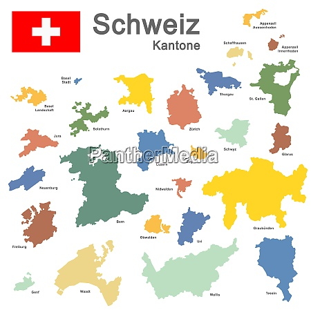 country switzerland colored