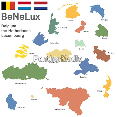 benelux countries colored