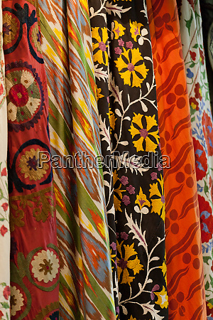 turkish colourful fabrics from the silk