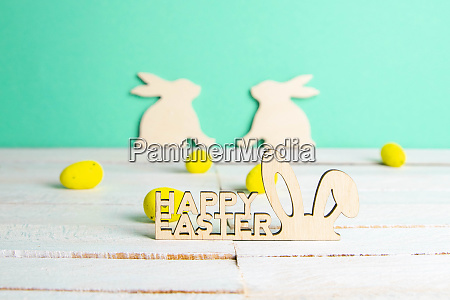 easter holiday background easter bunny eggs