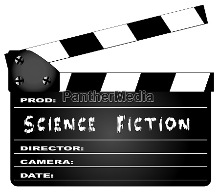 science fiction movie clapperboard