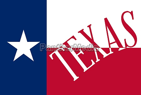 texas state flag with text