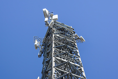 top view communication antenna tower for
