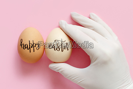 hand in glove keeping eggs with