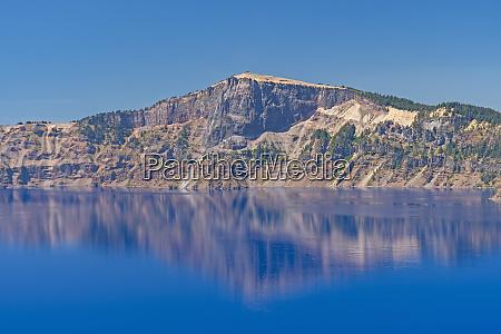 volcanic cliff across a volcanic caldera