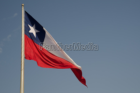 flag of chile in the libertador