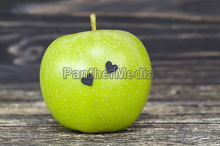 big beautiful green apple
