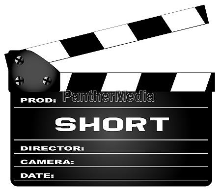 short movie clapperboard