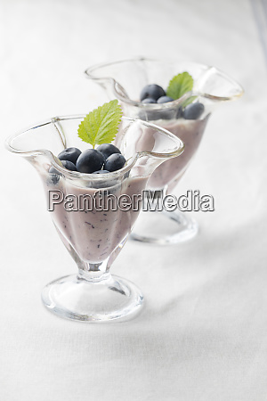 blue berries in a pot on