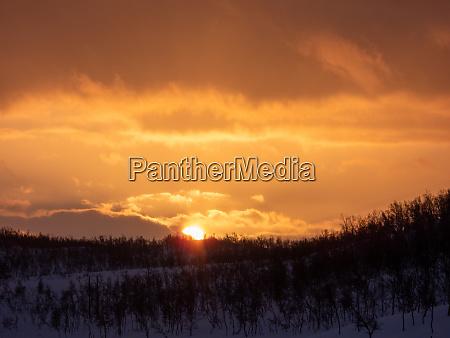 landscape in troms og finnmark alta