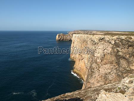 monumental cliff coast near cape st