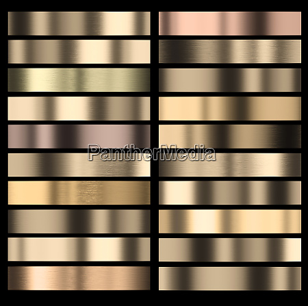 set of gold colored stripes of