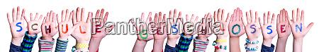 hands building word schule geschlossen means