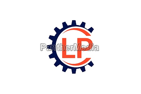 l p initial letter logo design