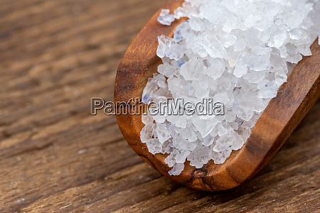 close up of rough crystal salt