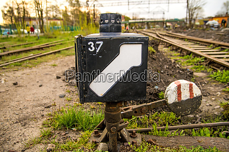 switch of an old closed railway
