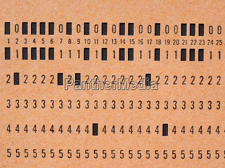 orange punched card for programming