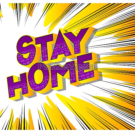 stay home vector illustrated comic