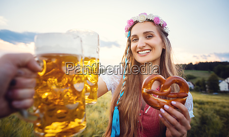 pov shot of couple in bavaria