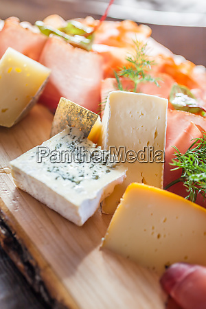 rustic plate with cheese