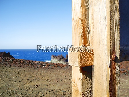 worn out timber structure at the
