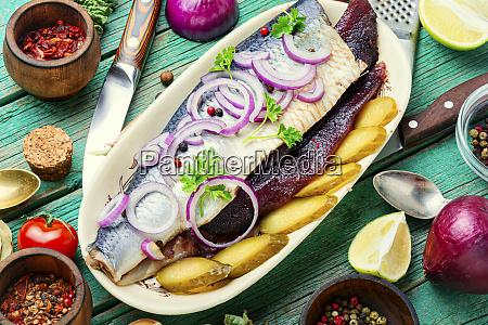 salted herring fish