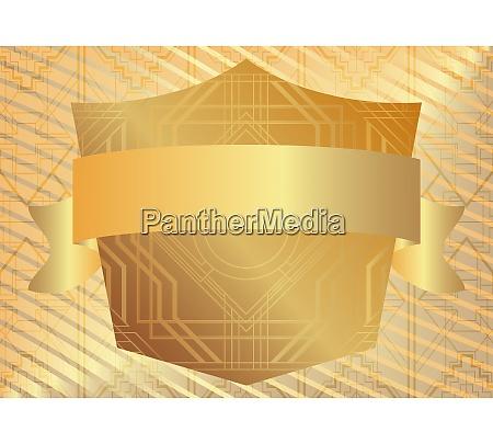 golden art deco luxury geometric background