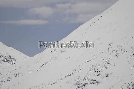 snowy slopes of the payachatas volcanic