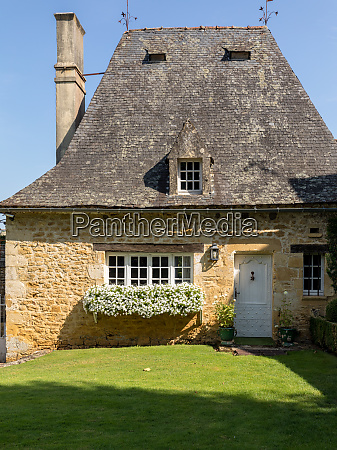 a, beautiful, old, stone, house, with - 28257733