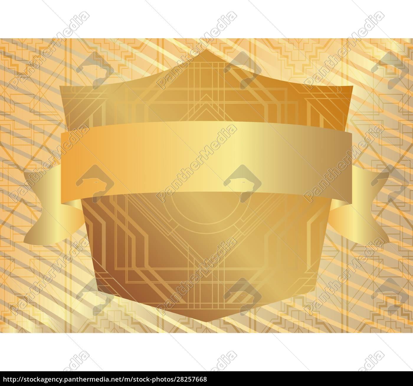 golden, art, deco, luxury, geometric, background - 28257668