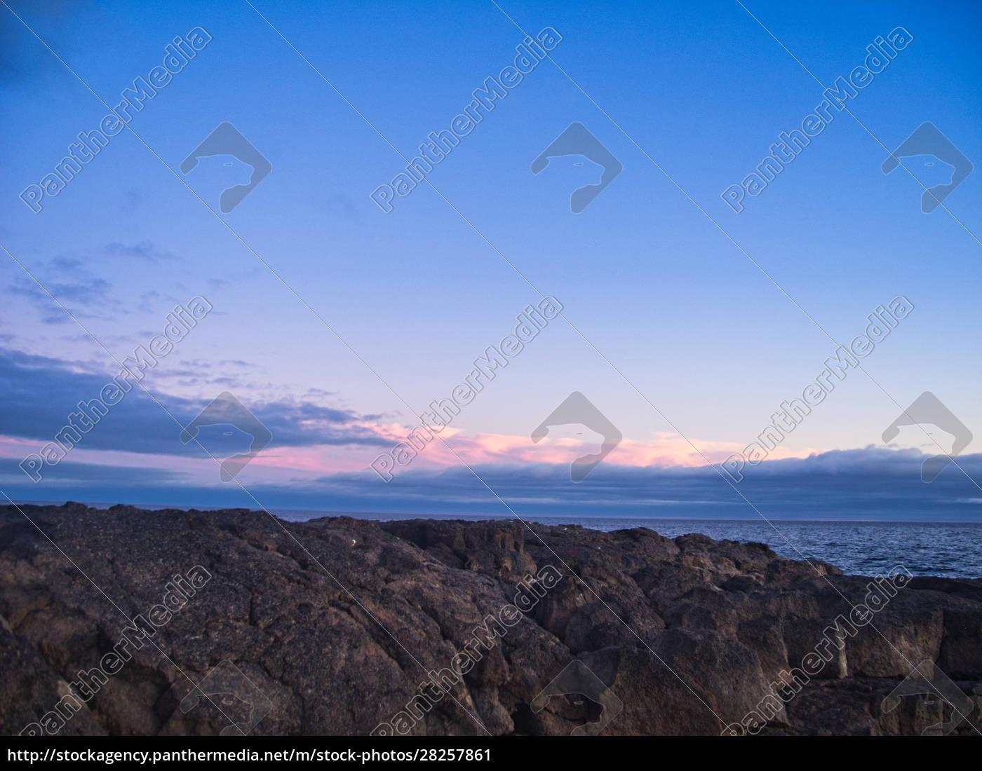 sunset, rocks, and, a, light, sky - 28257861