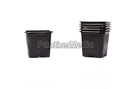 used, black, plastic, gardening, bucket - 28257599