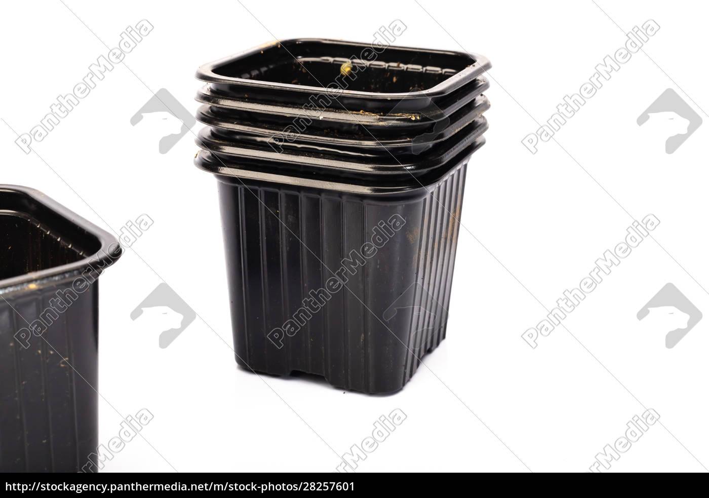 used, black, plastic, gardening, bucket - 28257601