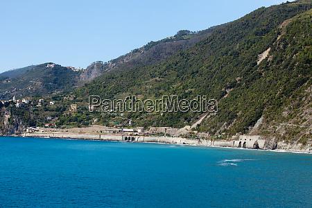the picturesque coastline of the cinque