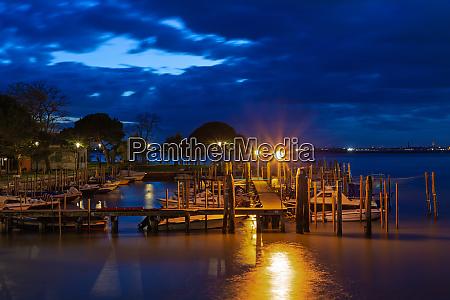 small harbor in burano venice at