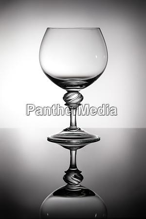 brandy glass in backlight