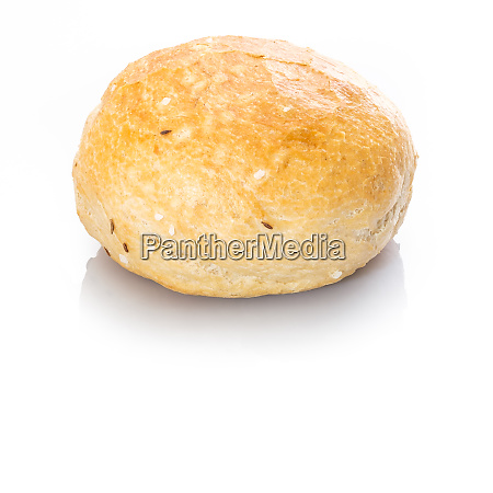 spelt roll with salt and caraway