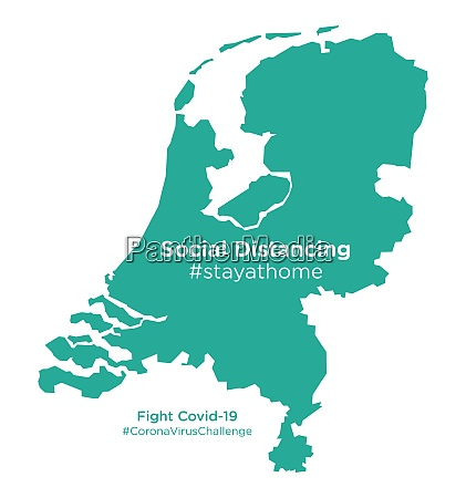 netherlands map with social distancing stayathome
