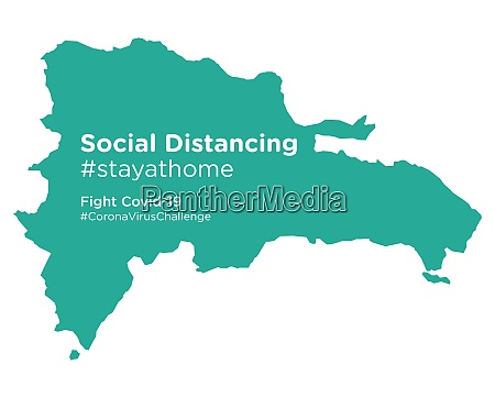 dominican republic map with social distancing