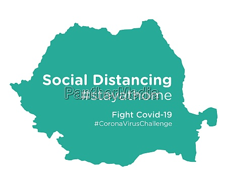 romania map with social distancing stayathome