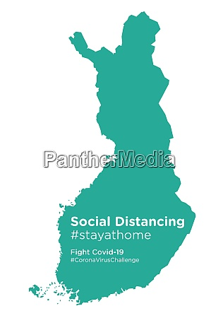 finland map with social distancing stayathome