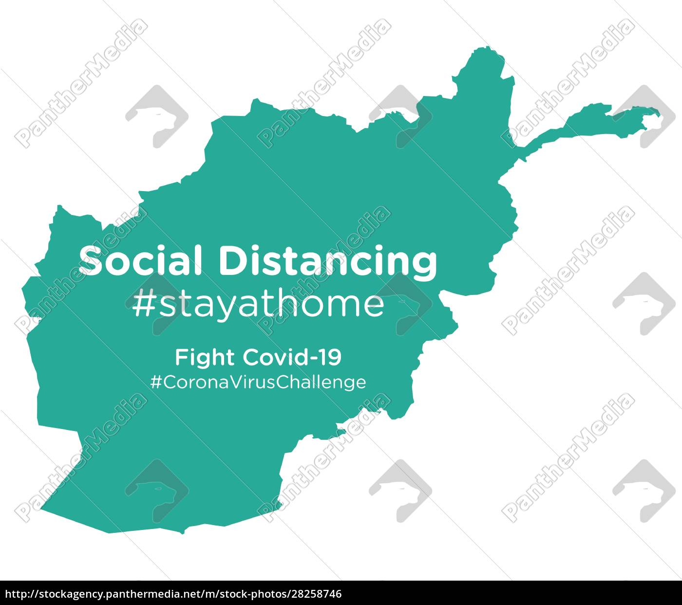 afghanistan, map, with, social, distancing, #stayathome - 28258746