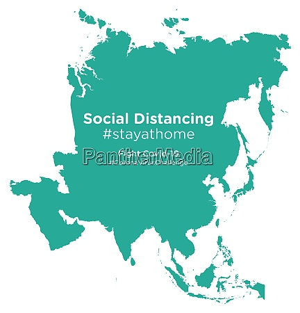 asia, map, with, social, distancing, stayathome - 28258654