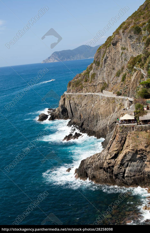 beautiful, coastline, in, cinque, terre, , liguria, - 28258098